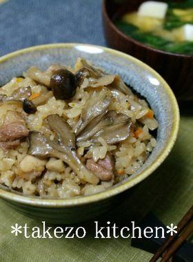 コクうま♪きのこと鶏の炊き込みご飯