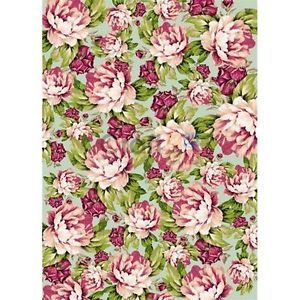 Carta-di-riso-A4-Texture-fiorita-Stamperia-DFSA4027