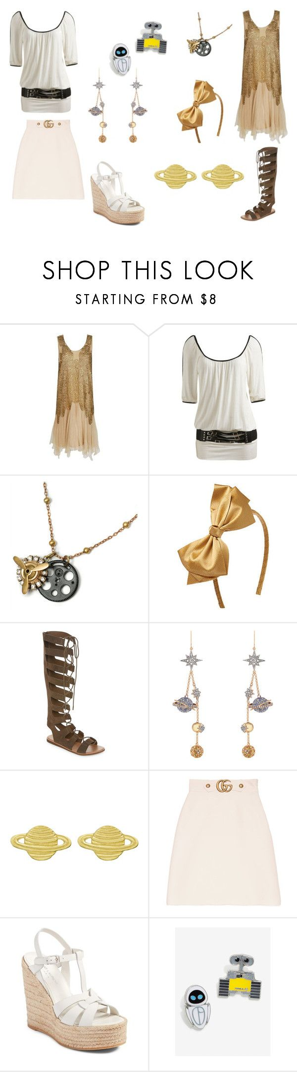 """""""Best Friends Wall-E And Eve"""" by meladyfrost ❤ liked on Polyvore featuring Wet Seal, Sweet Romance, Bamboo, Roberto Cavalli, Zoe & Morgan, Gucci and Yves Saint Laurent"""