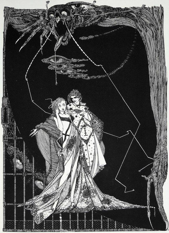 "Гарри Кларк. Иллюстрации к ""Фаусту"" Гете (1925): philologist"