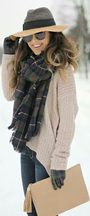 I can't help liking the tartan scarf & gloves!