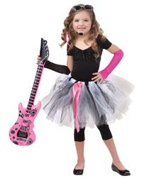 Girls Tutu Rock Star Costume - Kids Costumes