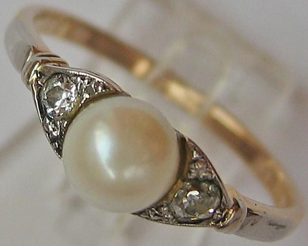 Schmuck ring perle