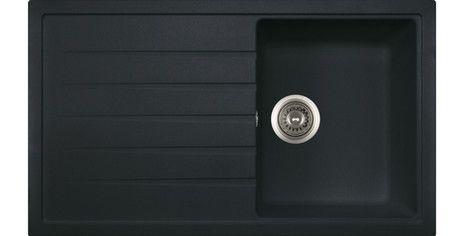 POLKA Hansloren zlewozmywak granitowy 1 komora z ociekaczem 500x860 czarny metalik - POCO-1WMD