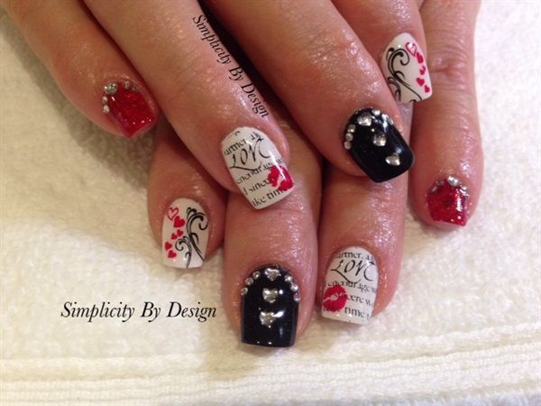 Day 45: Valentine's Day Nail Art - - NAILS Magazine - 424 Best Valentines Day Nail Art Images On Pinterest Valentines