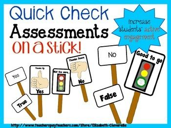 Use these response cards to increase students' active engagement and provide a way for teachers to immediately assess students and provide feedback to the whole class, a group of students within the class, or to individual students.