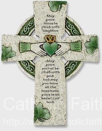 Irish Claddagh Wall Cross - Anyone with Irish heritage would be proud to have this on the wall