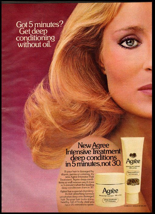 1981 glamour ad for Agree Shampoo -134  | eBay