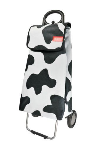Les Artistes Paris A-0605 Shopping Trolley Polyester Cow Design: Amazon.co.uk: Kitchen & Home