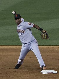 Edgar Renteria MVP SF Giants - Barranquilla - Pro Baseball Player