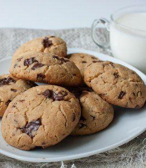 Арахисовое печенье с шоколадной крошкой