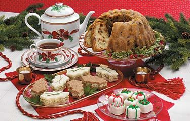 An elegant afternoon tea is an easy way to throw a Christmas party or girlfriend get-together.