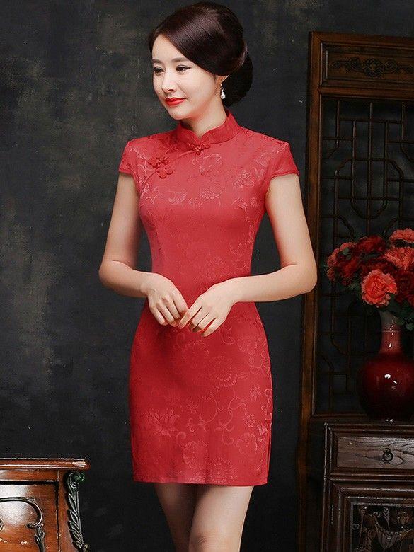Short Red Qipao / Cheongsam Wedding Dress