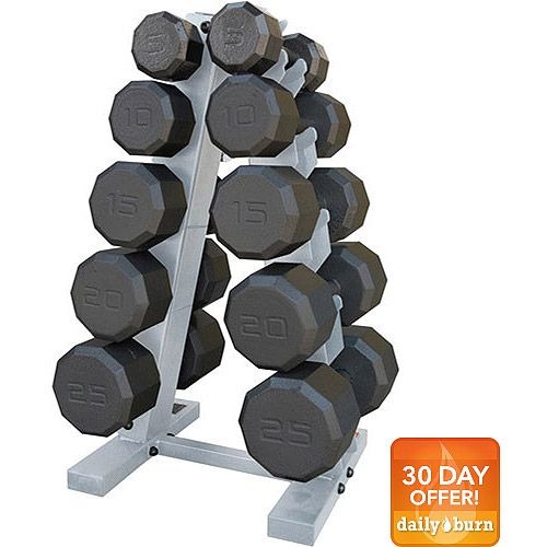 CAP Barbell 150-Pound Eco Dumbbell Weight Set with Rack for Sale