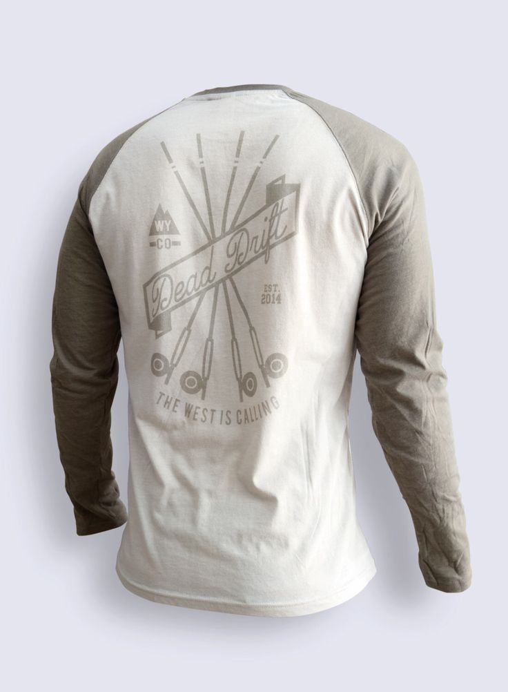Fly Fishing Long Sleeve DRIFTER by Dead Drift Fly Fishing Apparel by DeadDrift on Etsy https://www.etsy.com/listing/228404880/fly-fishing-long-sleeve-drifter-by-dead
