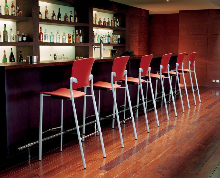 #Eina stools by Josep Lluscà for Enea Design. #hospitality #bar #restaurant #contract #interiordesign #school #office