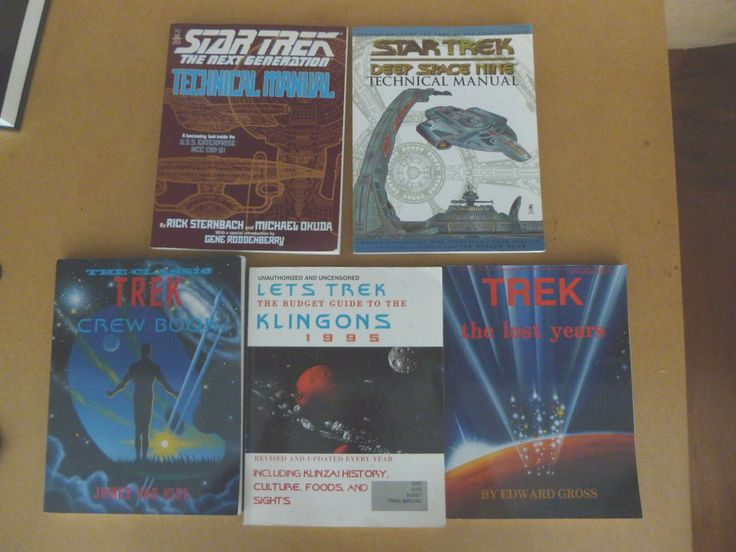 STAR TREK REFERENCE BOOKS - DS9, NG, KLINGONS, CREW BOOK - N/MINT COND