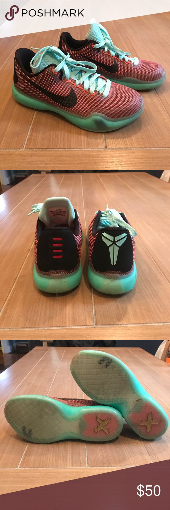 Kobe 10 Easter Sneakers Sz 6.5Y Kobe Bryant 10 Easter Sneakers Sz 6.5 Men's or youth or Women's Sz 8 — most comfortable shoe!!! Light teal, orange and black in color. Worn twice. Excellent used condition. Nike Shoes Sneakers