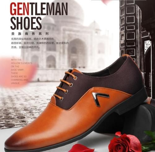 Mens business dress #formal leather shoes flat oxfords #loafers lace up #pointy t, View more on the LINK: http://www.zeppy.io/product/gb/2/231962732279/