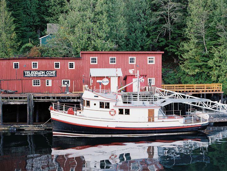 Telegraph Cove, Vancouver Island, BC, Canada. Christian Ward, Contax 645, Fuji 400H