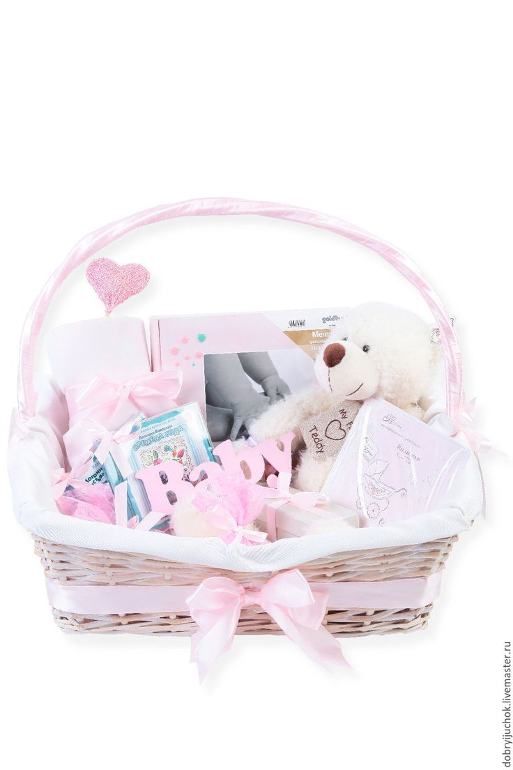 Подарочная корзина для новорожденной девочки - Добрый Жучок (dobryijuchok) - Ярмарка Мастеров http://www.livemaster.ru/item/15967903-podarki-k-prazdnikam-podarochnaya-korzina-dlya