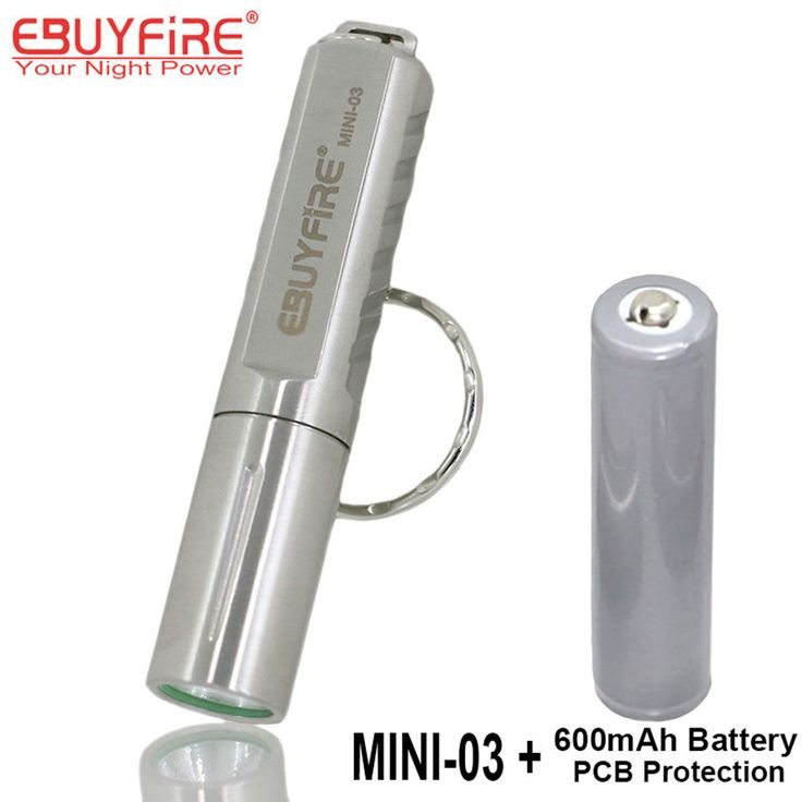 EBUYFIRE Mini-03 CREE XPG R5 LED Super Flashlight 10400 Torch Keychain LED Light with PCB Protected Rechargeable 10440 battery #Affiliate
