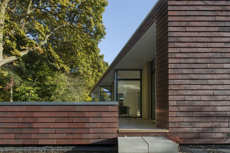 Completed in 2016 in Aarhus, Denmark. Images by Julian Weyer. . Villa Rypen is a single-storey detached house situated on the edge of a forest in Aarhus. Inspired by the unique site, the forest is invited in, and...