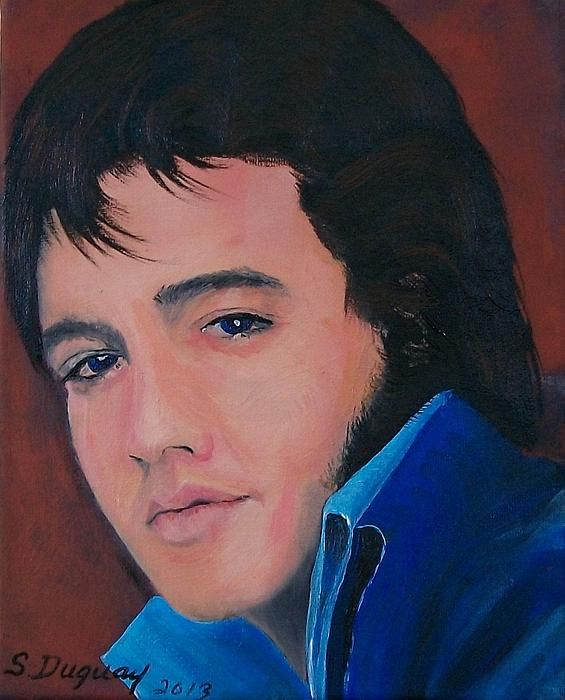 Elvis by Sharon Duguay - Elvis Painting - Elvis Fine Art Prints and Posters for Sale fineartamerica.com