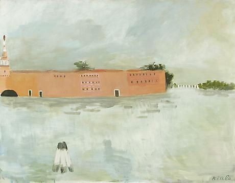 Janice Biala, Untitled (Lagune et la Douane), ca. 1981, oil on canvas, 45 by 57 inches
