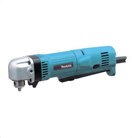 """Makita DA3010F Angle Drill     Compact and light body weighs only 1.4kg (3.1lbs).     Only 66mm (2-5/8"""") in head height.     DA3010F : Features a built-in LED job light.     With keyed chuck. For More Details: www.mrthomas.in/makita-da3010f-angle-drill_19"""
