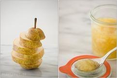 Zelfgemaakte perenjam met vanille. Lekker met brood, pannenkoeken, yoghurt…