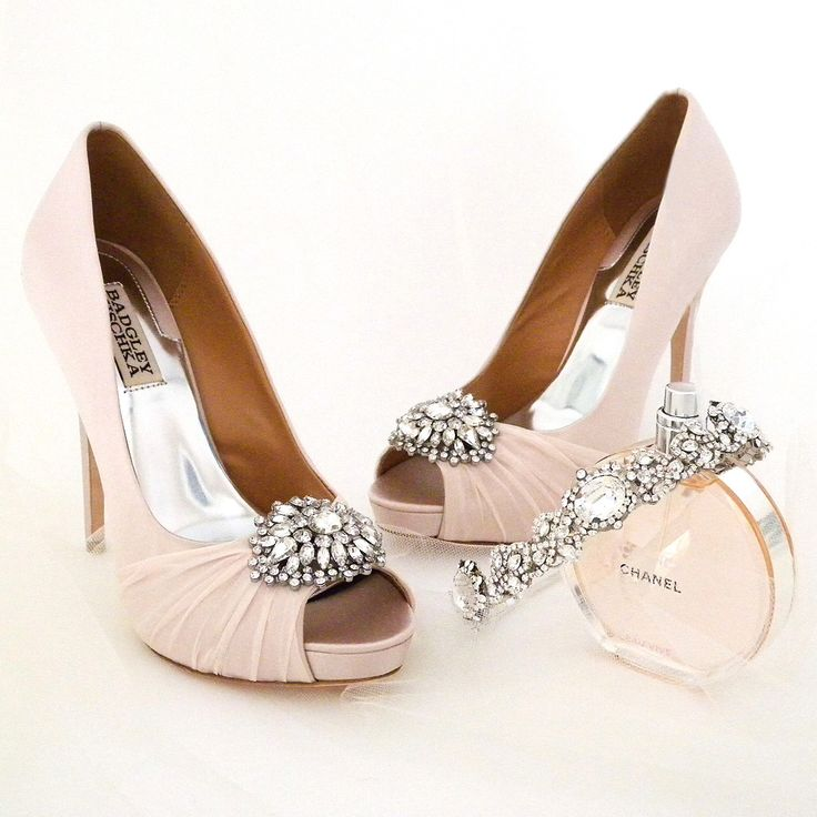 Badgley Msichka Wedding Shoes. ~ Glamorous and sophisticated in a not too girly shade of pink. Pettal is also available in white. psst..we have a special deal for you <3