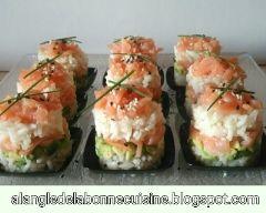 Mini sushis-cake apéritif