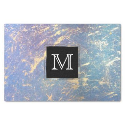 #gold - #Erratic Party | Monogram Watercolor Rainbow Gold Tissue Paper