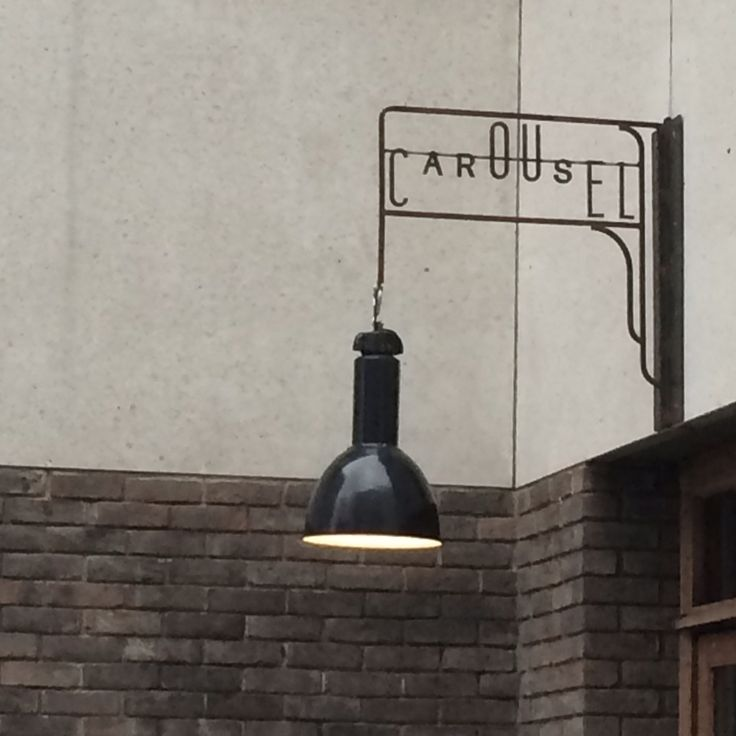 Sign lamp.