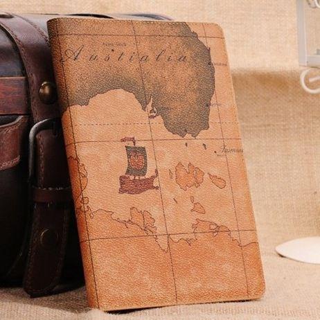 OEM Δερμάτινη Θήκη Χάρτης Case Stand Καφέ (iPad mini / Retina) - myThiki.gr - Θήκες Κινητών-Αξεσουάρ για Smartphones και Tablets - World earth map
