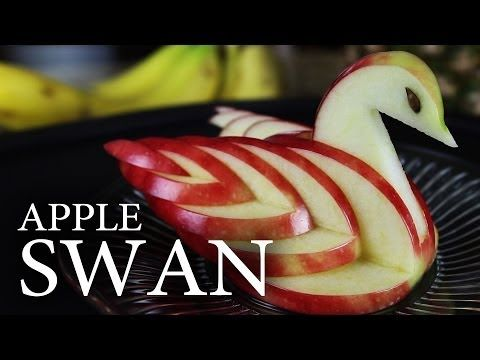 How to Turn an Ordinary Apple into Deliciously Artful Swan « Food Hacks - This link has both video and pictorial/written instructions