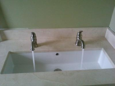 Undermount Trough Sink : ... trough sink with dual faucets Bath Stuff Pinterest Trough sink