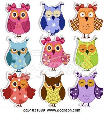 Owl Eyes Clip Art Cartoon owls - clipart graphic