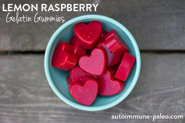 Lemon Raspberry Gelatin Gummies #AIP #autoimmunepaleo