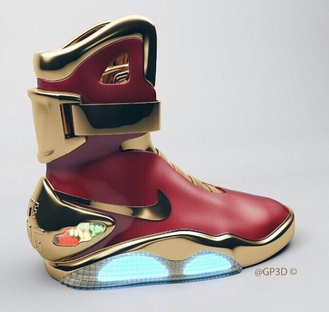 huge selection of ab4a8 761d3 Nike Air Mag Iron Man Customs   Sneakers in 2019   Nike mag, Nike shoes, Sneakers  nike