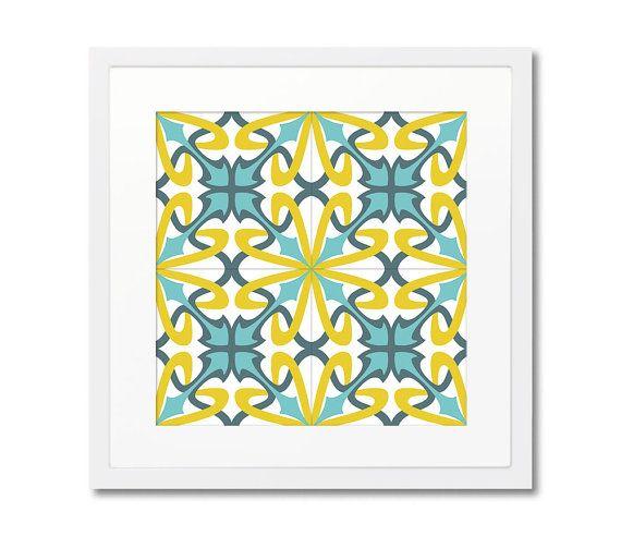 Vintage Framed Print Graphic Print Ceramic Tile by Macrografiks