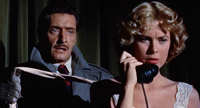 Dial M for Murder - Death by Scissors scene