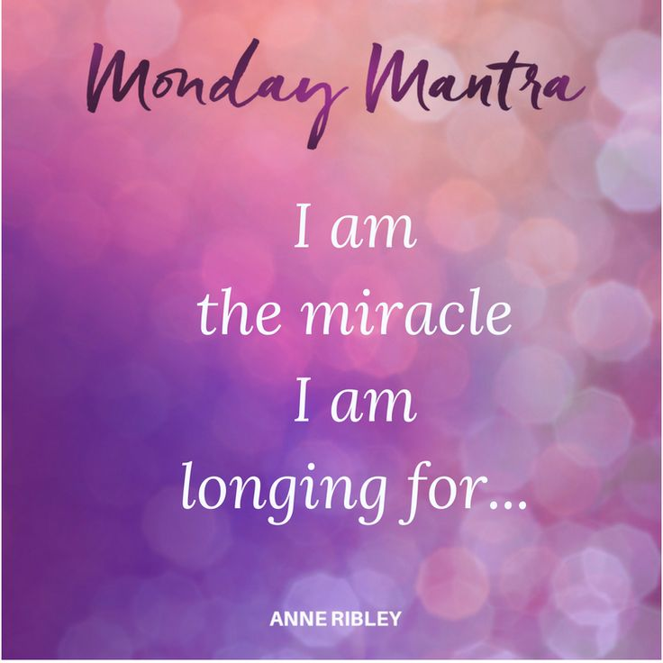 MONDAY MANTRA: I am the miracle, I am longing for... You are! Can you embrace it? Can you deepen your self-love a bit more today? Open yourself to your next best step within more self-love because the miracle you need will be there to meet you. Let your longings lean you into the miracle of you. Try saying this mantra at least 3 times today. I am the miracle, I am longing for... This is such a powerful mantra because it is a declaration built within an answered prayer. These 8 words are…