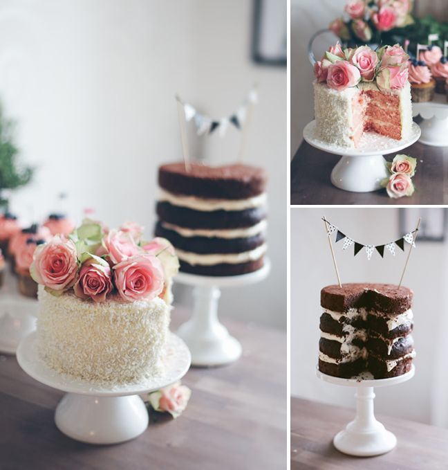 Small small detail but I think the mini banner on the chocolate cake is simply adorable.
