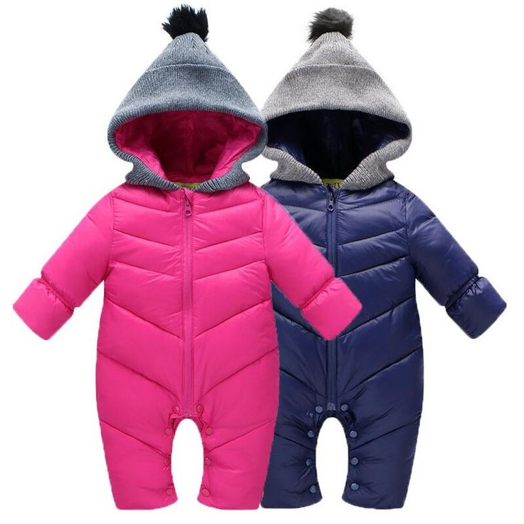 26.62$  Buy here - http://aikhl.worlditems.win/all/product.php?id=32749030513 - Hot Sale! Baby Rompers Newborn Baby Girl Thermal Duck Down Winter Snowsuit Baby Cute Hooded Jumpsuit Newborn Baby Boy Clothes