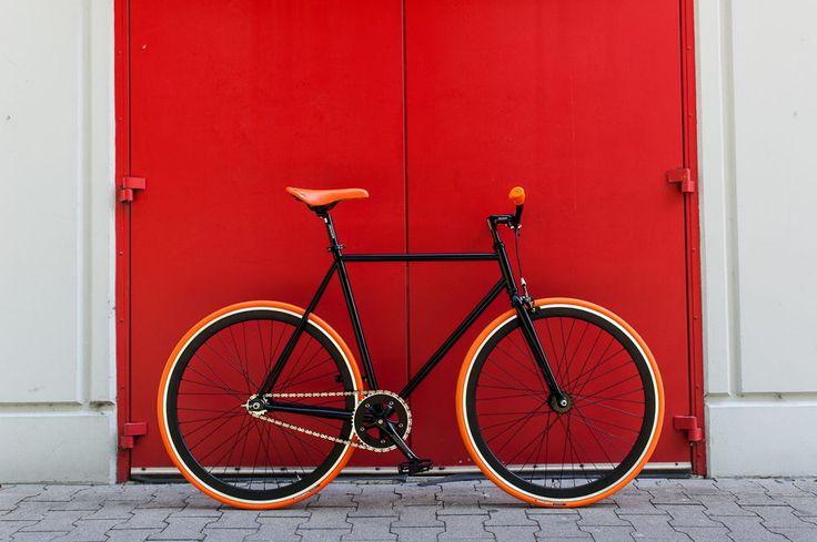 """WOO HOO BIKES - ORANGE 19"""" - Fixed Gear Bicycle, Fixie, One Gear, Track Bike #WooHooBikes"""