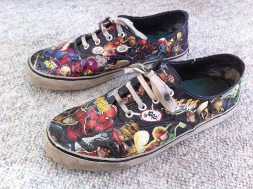 Comic book shoes DIY