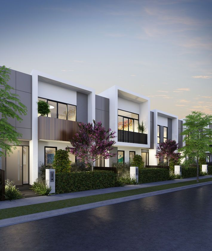The latest exterior images of our 'Central Park' townhouse project in Cheltenham, Melbourne