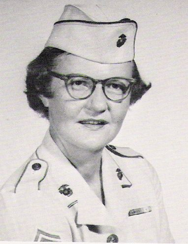 Master Sergeant Barbara Jean Dulinsky was a member of the United States Marine Corps who, in 1967, became the first woman United States Marine to serve in a combat zone, when her request to be sent to Vietnam was granted. She served at Military Assistance Command, Vietnam (MACV) Headquarters in Saigon. She died in 1995.